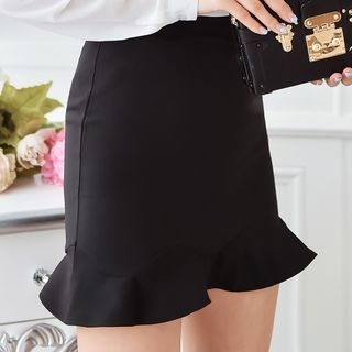 Ruffle Hem Mini Skirt 1053517754