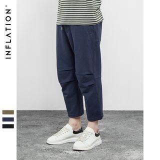 Plain Drawstring Cropped Pants