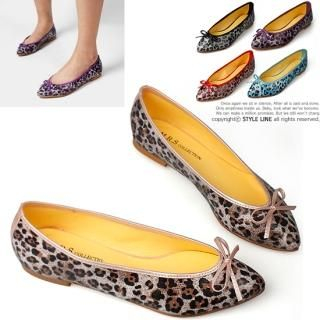Buy STYLE LINE Bow-Accent Leopard Print Flats 1022316100