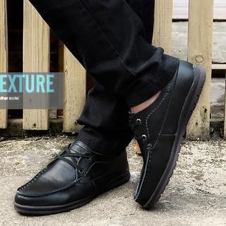 Faux-Leather Oxford Shoes