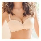Scalloped Trim Wireless Bra set 1596