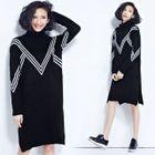 Chevron Knit Dress 1596