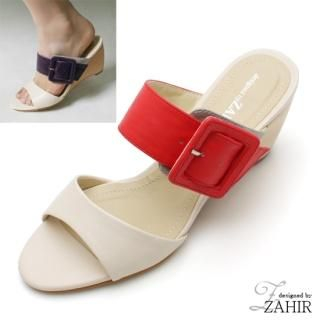 Buy ZAHIR Buckled Wedge Mules 1021093478