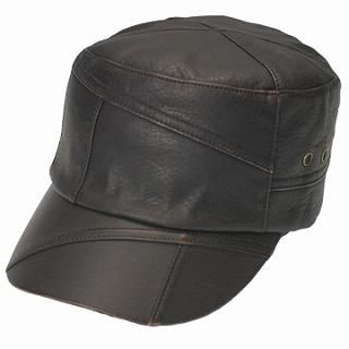 Buy GRACE Faux-Leather Paneled Casquette Chocolate Brown – One Size 1022173426