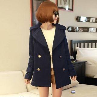 Notch Lapel Long Woolen Coat 1055066392