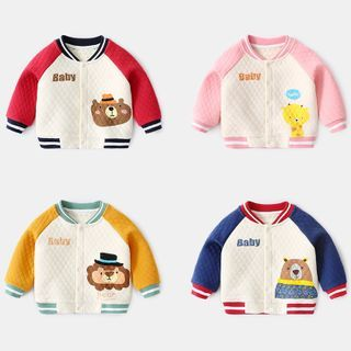 Image of Baby Print Baseball Jacket