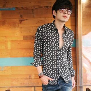 Buy moscod Print Long-Sleeve Shirt 1022809843