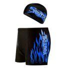 Set: Lettering Swim Shorts + Swim Hat 1596