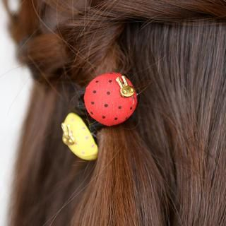 Set of 4: Button Hair Tie  Color Chosen at Random - One Size 1035730871