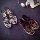 Canvas Leopard-Print Slip-Ons 1596
