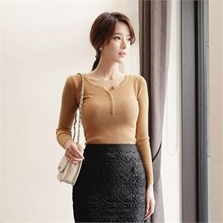 Ribbed Knit Top 1055766720