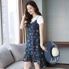 Floral Print Strappy Dress 1596