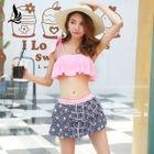 Set: Bikini Top + Print Swim Skirt 1596