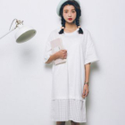 Elbow-Sleeve Panel Dress от YesStyle.com INT