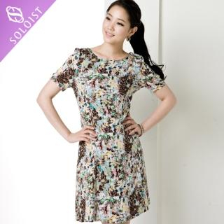 Buy Soloist Short-Sleeve Dress with Lining 1022847694