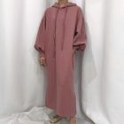 Hooded Pullover Maxi Dress 1596
