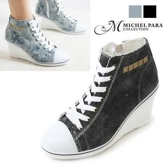 Buy MICHEL PARA COLLECTION Canvas Wedge Pumps (2 Designs) 1023039881