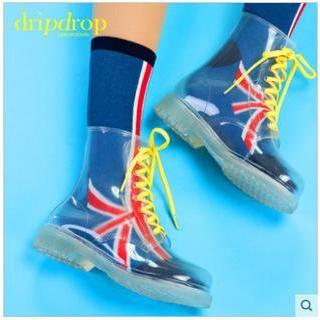Set: Lace-Up Rain Boots + Socks
