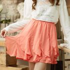 Band-Waist Ruffled Skirt 1596