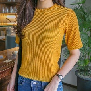 Ribbed Short-Sleeve Top 1061845139