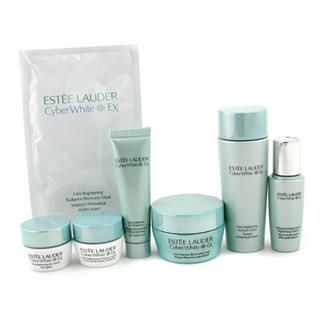 Buy Estee Lauder – Cyber White EX Travel Set: Lotion + Creme + UV Protector + Essence + Eye Creme + Mask + Sheet Mask 7pcs