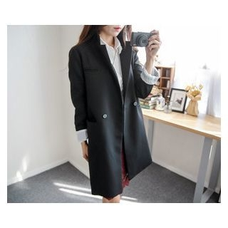 One-Button Long Jacket 1054283499