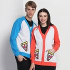 Applique Couple Raglan Cardigan 1596