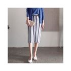 Stripe Knit Midi Skirt 1596