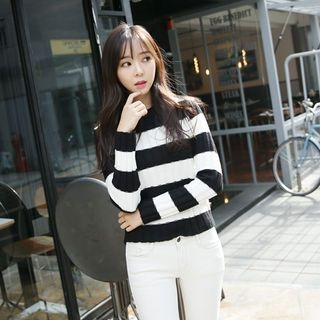 Striped Ribbed Sweater 1054341955