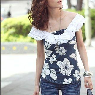 Buy PUFFY Floral Print Chiffon Top 1022815030