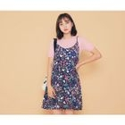 Floral Print Spaghetti Strap Dress 1596