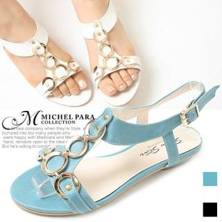 Buy MICHEL PARA COLLECTION Chain T-Strap Sandals 1022940267