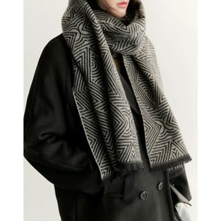 Pattern Knit Scarf 1056722360