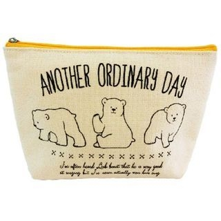 Animal Canvas Pouch (White Bear) 1061210467