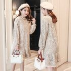 Maternity Lace Long Sleeve Dress 1596