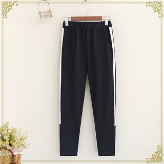 Contrast Trim Sweatpants 1053298193