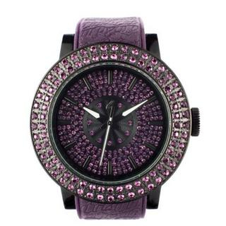 Diamond Lens Glass Purple Strap Watch 1028072018
