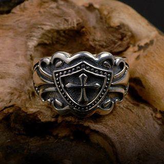 Image of Cross Metal Ring