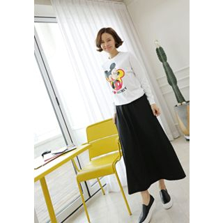 Band-Waist Long Skirt 1057567623