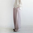 Pintuck-Trim Wide-Leg Pants 1596