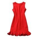Sleeveless Frill Trim Dress 1596