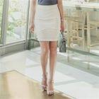 Pintuck Pencil Skirt 1596