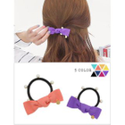 Embellished Bow Hair Tie Peach - One Size от YesStyle.com INT