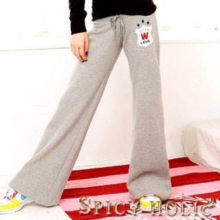 Buy SPICY HOLIC Crest Print Sweatpants 1021969853