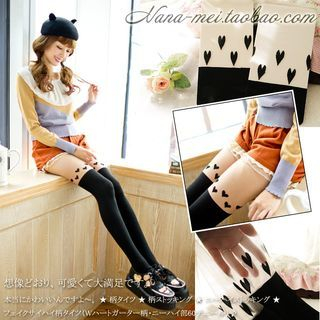Heart Print Tights 1049183106