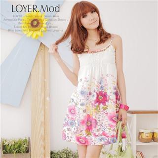 Buy LOYER.mod Beaded Neckline Floral Sundress White – One Size 1022795748