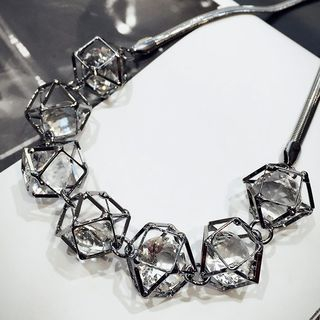 Image of Caged Crystal Statement Necklace