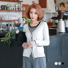 V-Neck Button Cardigan 1596