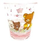 Rilakkuma Plastic Clear Cup (Pink) 1596