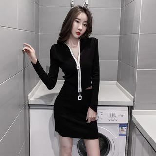 Cardigan   Skirt   Black   Size   One